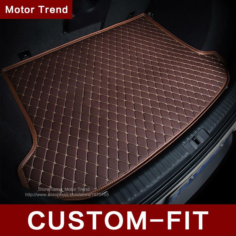 ФОТО Custom fit car trunk mat for Ford  Escape Kuga Fusion Mondeo Ecosport Explorer Focus Fiesta car styling carpet cargo liner