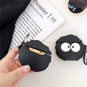 Image 5 - Cute Cartoon Tonari No Totoro Fairydust Susuwatari Black Coal Ball Headphone Cases For Apple Airpods 1 2 Silicone Earphone Cover