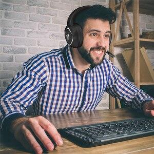 Image 5 - LEORY K19 RGB LED אור USB משחקים שחור אוזניות 2.1m סטריאו הפחתת רעש Wired אוזניות אוזניות עם מיקרופון