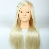 Mannequin Head Salon 20Inch White Hair Training Hairdressing Practice Cosmetology Mannequins Hair Styling