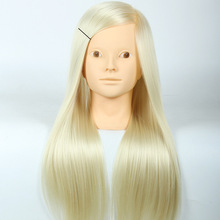 Mannequin Head Salon 20Inch White Hair Training Hairdressing Practice Cosmetology Mannequins Styling