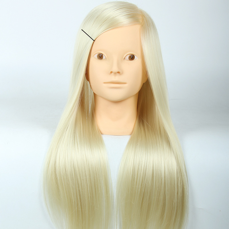 Mannequin Head Salon 20Inch White Hair Training Hairdressing Doll Heads Practice Cosmetology Mannequins Hair Styling