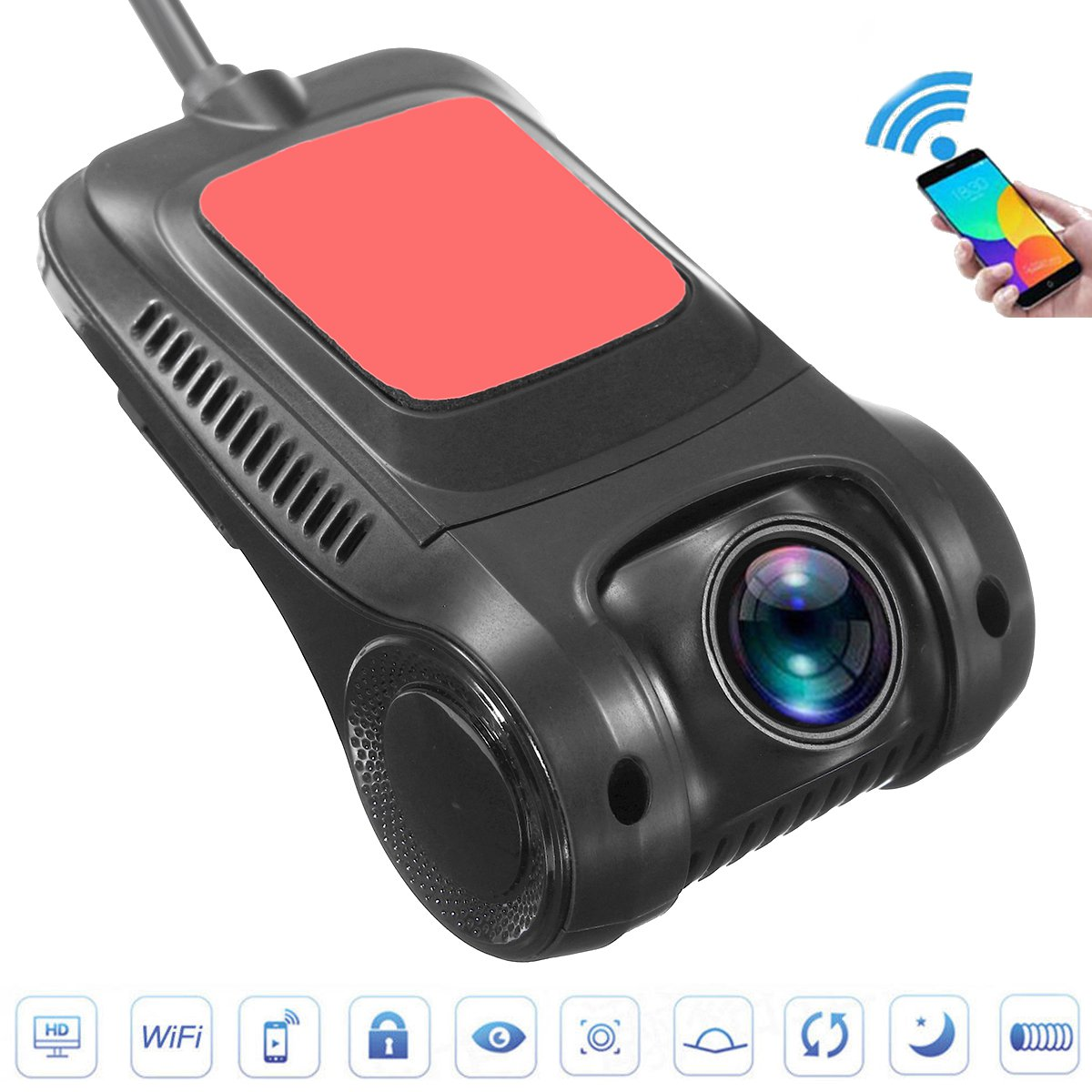 Waterproof Wide Angle Car Reversing Front Rearview Reverse Backup Camera Night Vision Backup Monitor LED Automatic Induction