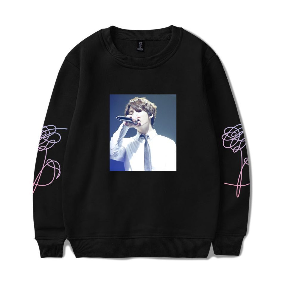 Frdun Tommy K-pop BTS Women Love Yourself BTS Stay Picture JUNG KOOK Capless Sweatshirt Hip Hop Female Fans Idol Closthes 4XL