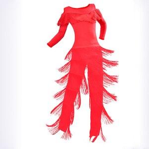 Image 5 - 新2019ラテンモダンダンススーツ女性/女の子セクシーな縞ロング社交/タンゴ/ルンバ/ラテンドレス衣類ダンサー