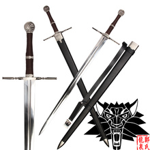 Game swords Replica Geralt of Rivia Blade Real Stainless Steel No Sharp Decorative Sword