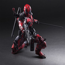 лучшая цена New Hot 26cm Super Hero X-men Deadpool Movable Action Figure Toys Collection Christmas Gift Doll