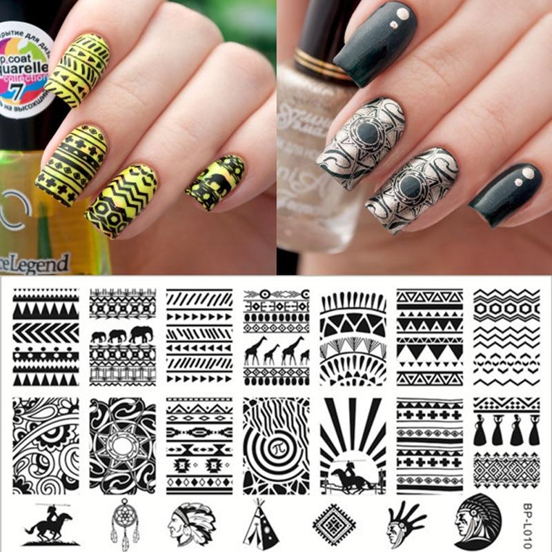 Aztec Pattern Nail Art Stamp...