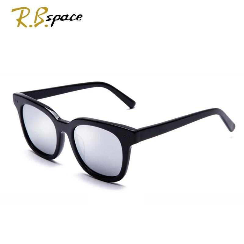 RBspace Unisex Retro Platte polarisierte sonnenbrille Marke Sonnenbrille Polarisierte Linse Vintage Brillen Zubehör Sonnenbrille Männer/Wom - 2