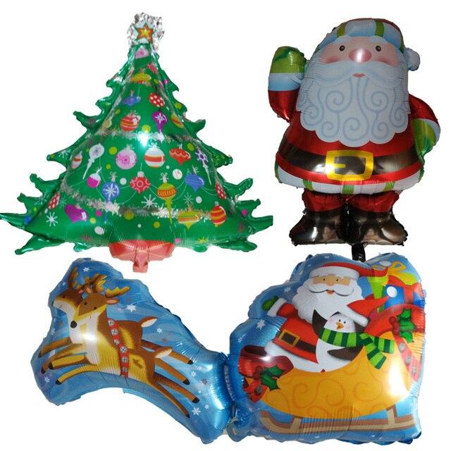 christmas party decorations foil balloons 30pcs santa claus snowman theme party supplies globos children toys gifts