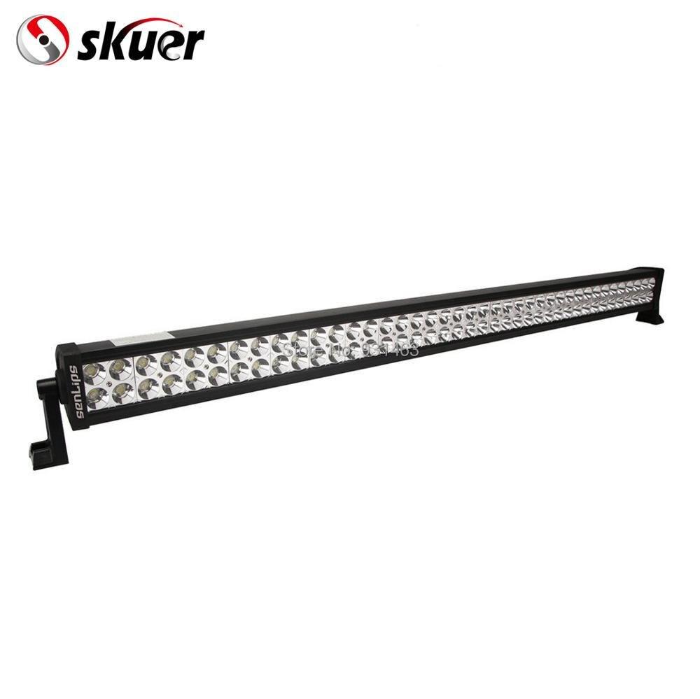 Skure LED Lumière Bar, 42''240W Double Rangées droites IP67 étanche Combo Faisceau Offroad camion de voiture LED light bar