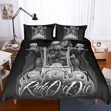 Bedding set 3D print,skull Hey beauty car hey beautiful lady car Duvet cover set Home Textiles .twin/full/king/queen/cal-king(China)