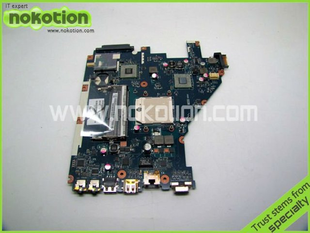 Placa madre del ordenador portátil para acer aspire 5552 pew96 la-6552p mbr4602001 placa madre amd socket s1 integrado mainboard