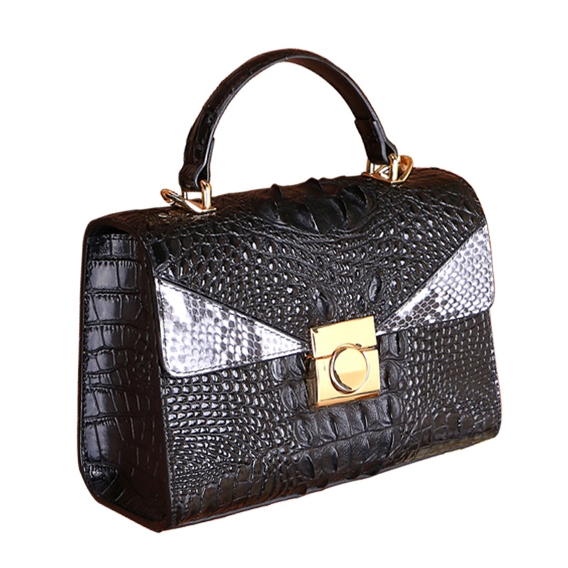 designer fashion handbag ,Cow Leather Classic bags ,luxury Genuine Leather Casual quality Totes ,women Alligator Leather handbag handbag designer cow style bag women lock handbag luxury genuine leather totes cow leather classic brand messenger bags