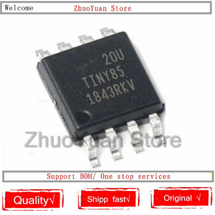 1PCS/lot New Original ATTINY85-20SU TINY85 ATTINY85 SOP-8 8KB 20MHz 8-bit IC Chip