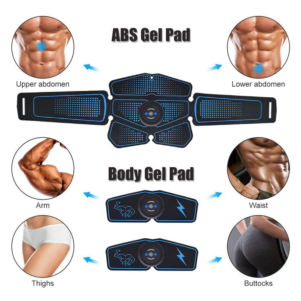 Abdominal Muscle Stimulator EMS Abs Trainer Fitness Training Gear Muscles Toner USB Rechargeable Home Gym Workout Equipment (1)