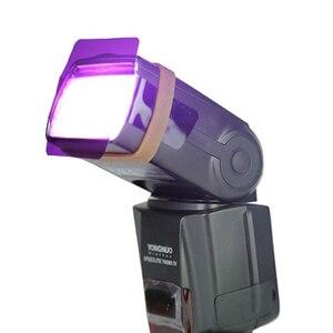 Image 5 - Filtro de gel para fotografía difusor de iluminación de tarjeta, 20 colores, para Canon, Nikon, Sony, Yongnuo, Godox, Flash, Nissin, Speedlite