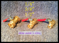 2pcs Lot 1 2 BSP Female To Male Full Ports Connection Air Brass Pipe Ball Valve