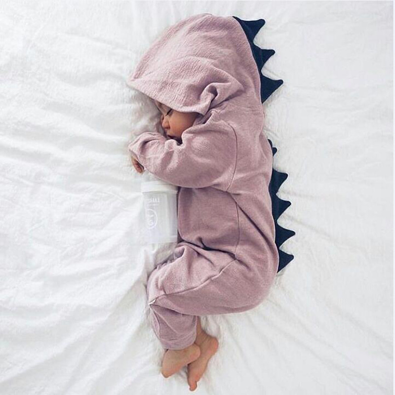 Newborn Infant Baby Romper Girl Boy Clothes Cute 3D Dinasour Romper Jumpsuit Playsuit Autumn Winter Warm Bebes Rompers One Piece 2016 fashion baby boy girl romper clothes autumn winter warm bebes playsuit zipper long sleeve jumpsuit one pieces outfits suit