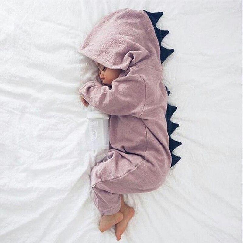 Newborn Infant Baby Romper Girl Boy Clothes Cute 3D Dinasour Romper Jumpsuit Playsuit Autumn Winter Warm Bebes Rompers One Piece