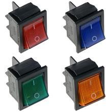 1 шт., KCD4-202, лодка, кулисный переключатель, выключатель питания, 4 фута, светильник 31x25 мм, 20A, 125VAC, 16A, 250VAC, светильник, переключатель