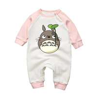 2017New Autumn Winter Newborn Clothing Baby Girl Rompers Cartoon Totoro Cotton Infant Boy Long Sleeve Jumpsuits