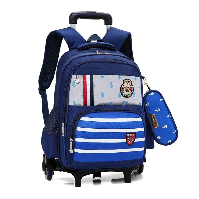Removable Children Trolley school Backpack School Bags Grils Wheeled Bags Nylon Orthopedic Backpacks for teenagers boys MochilaRemovable Children Trolley school Backpack School Bags Grils Wheeled Bags Nylon Orthopedic Backpacks for teenagers boys Mochila
