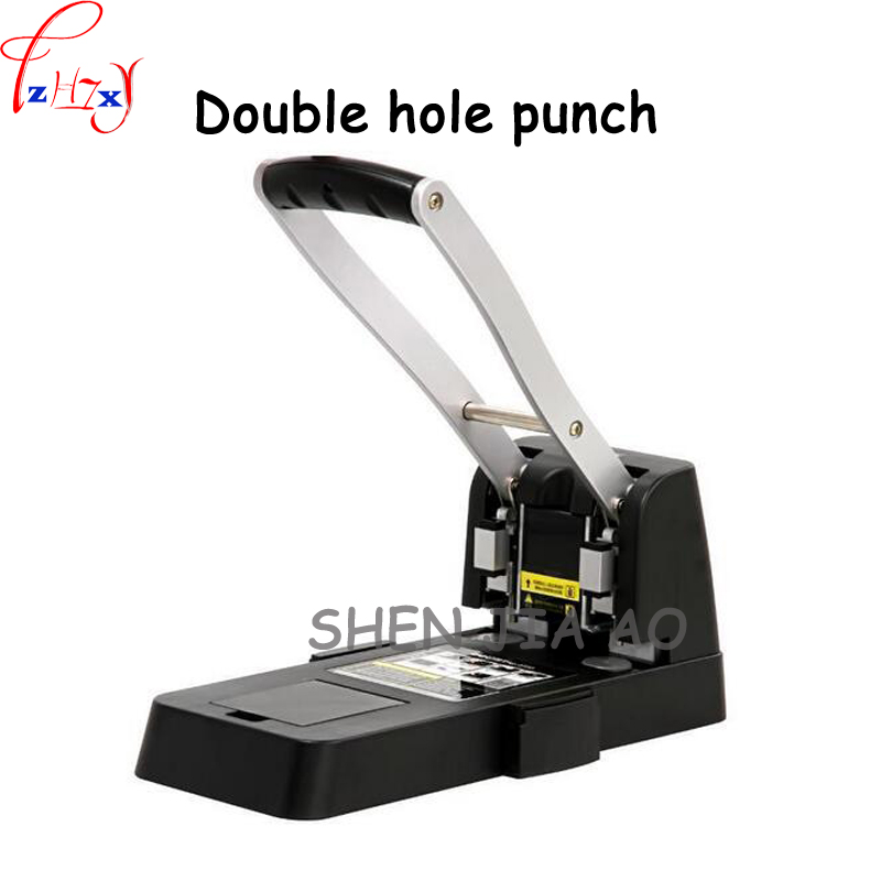 Heavy duty manual punching machine 150 thick layer of labor force double hole drilling machine easy to penetrate 1pc deli 0130 professional heavy duty punch manual design school office supplies double holes metal paper punching machine