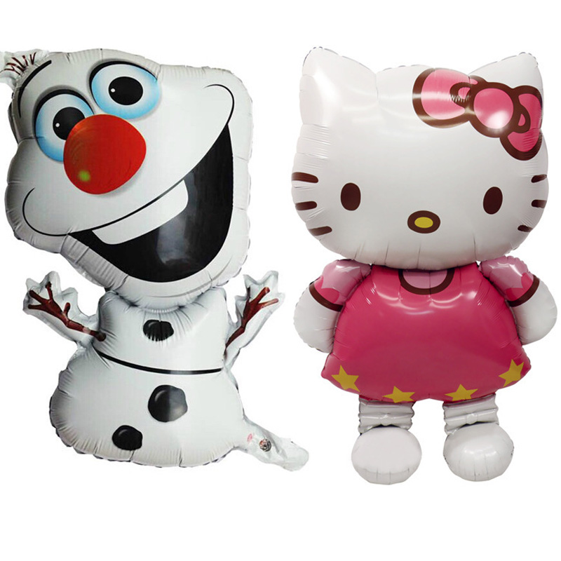 1pcs Globus Olaf Hello Kitty Folija Ballon Happy Party Dekoracija Napihljivi Igrače Božič Birthday Gifts Kids Party Supplies  t