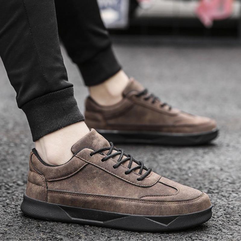 Chaussures 2018 Vintage D'été Cuir Sneakers À Black1 Homme gray2 Lacets Respirant Hommes gray1 De Cet619 Casual brown Mode En black2 xXrxwd