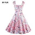 1950 s 60 s rockabilly columpio de flores vestidos de verano bffur s-2xl mujeres dress vintage retro elegante túnica vestidos sysj1373