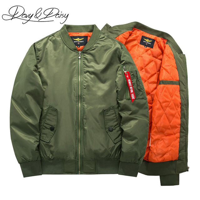 11baf204297 DAVYDAISY Brand Bomber Jacket Men Air Force Flight Coat Early Winter Thick  Military Hip Hop Pilot Jacket Men Plus Size DCT-177