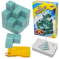 Hot Sale 3D Soma Cube Puzzle IQ Logic Brain Teaser Puzzles Game For Children Adults Children