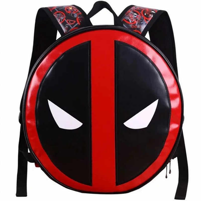 Souvenir PU Leather Captain America Backpack Team Usa Slotted Shield Student Bag Marvel Overflowing Wei Authentic Round