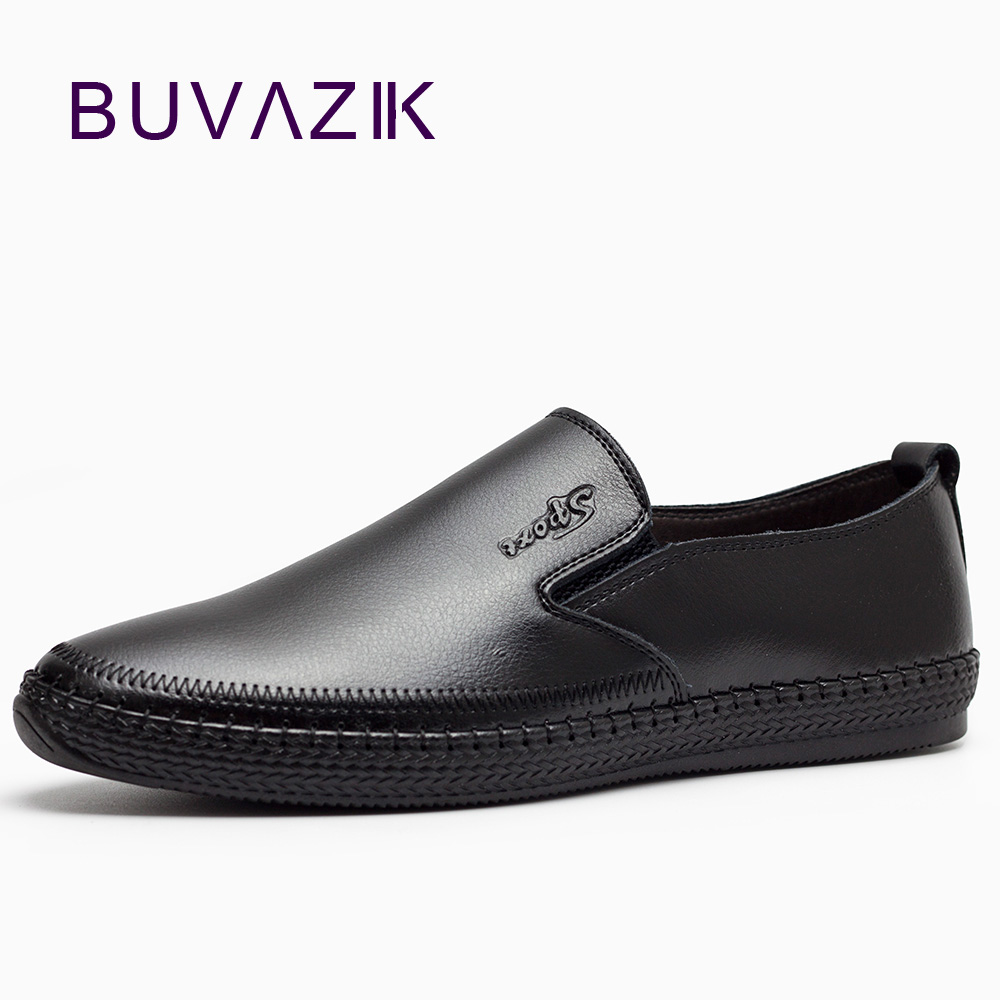 2018 slip-on breathable casual genuine leather shoes men black tide leather size 10 comfortable elegant loafers men flats 2017 spring autumn casual genuine leather breathable men shoes han style tide fashion men manual waterproof slip on drive shoes