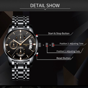 Image 3 - NIBOSI Gold Uhr Chronograph Sport Uhr Männer Business Wasserdichte Quarzuhr Relogio Masculino Mann Military Herren Uhren Uhr