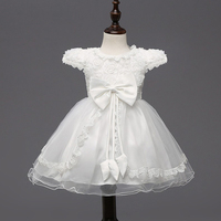 Blanco rojo de la boda vestidos para niña Rosa Flores vestidos niñas vestidos princesa dama arco ballgown vestidos pricesa