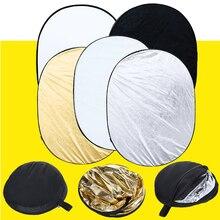 5 en 1 Multi Disco de Estudio Fotografía fotografía Ligero Plegable del Reflector Oval 90×120 cm/35×47 pulgadas