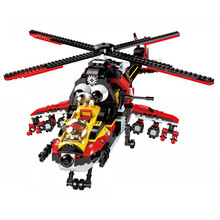 Enlighten 1917 City Series Police Ghost Recon Helicopter Model Action Educational Figures Building Blocks Boy Toys for kids gift