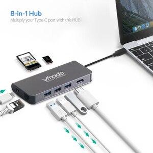 Image 4 - 8 en 1 USB Hub 3 puertos USB 3,0 SD y TF ranuras Super Speed Compact Hub adaptador para ordenador portátil MacBook 4K HDMI Typle C