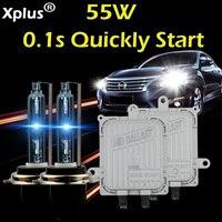 55W Quickly Start HID Xenon Kit 2pcs Ballast H1 H3 H4 H8 H7 H8 H9 H11HB3