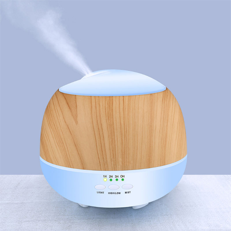 Wood Grain Iceberg Humidifier 500ml Ultrasonic Aromatherapy Machine Air Purifier Essential Oil Diffuser Family Bedroom Living humidifier 500ml wood grain 110v 220v air humidifier colorful led aromatherapy ultrasonic humidifier