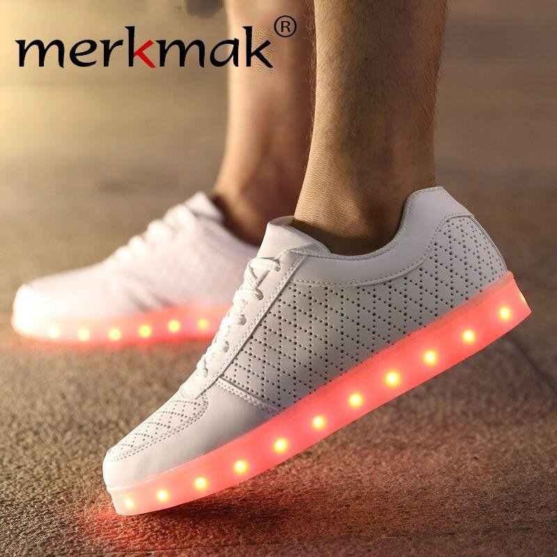 Unisex Led Light Up Flat Shoes