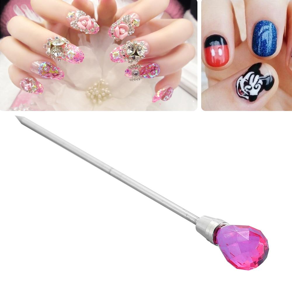 Professional Red Dotting Pen Nail Art Rhinestones Gems Picking ...