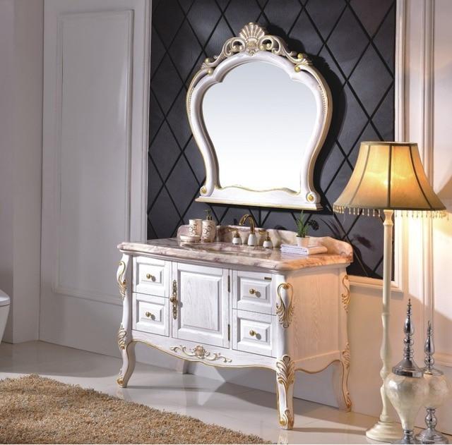 Colore bianco Francese Design di Stile Classico Mobiletto del Bagno ...