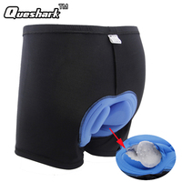 Men Professional Cycling Shorts Blue 3D Silicone Gel Padded Black Underpant Outdoor Bicycle Bike Sports Underwear