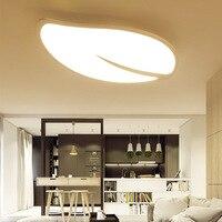 سقف ليد حديث أضواء ورقة شكل Plafondlamp نوم مطعم الممر دراسة غرفة الطعام سامسونج صالون Plafonnier-في أضواء السقف من مصابيح وإضاءات على