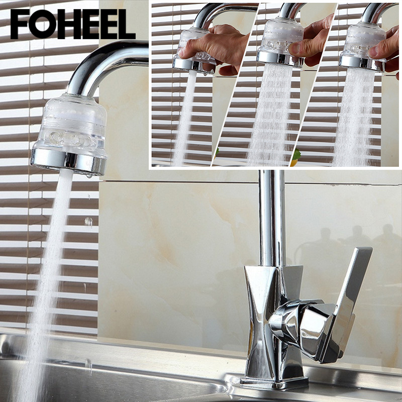 FOHEEL Household Water Filter Adapter Water Purifier Kitchen Faucet Nozzle Saving Tap Aerator Diffuser Kitchen Accessories