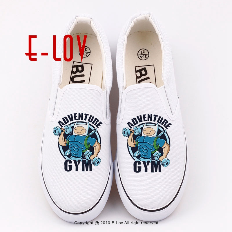 Adventure time 2017 New Fashion Women's Canvas Shoes Unisex Hip Hop Printed Casual Flats Rock Woman Girls Loafers Shoe