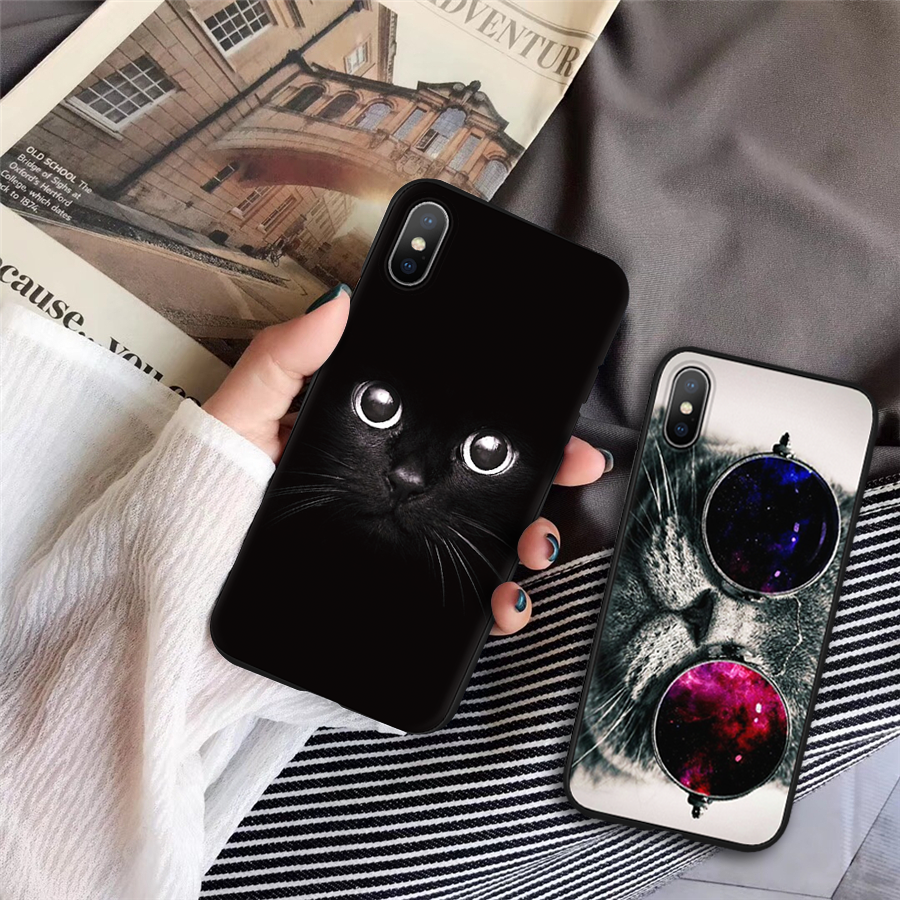 2fdb4fb05ca For iPhone 7 plus 8 plus Cat Cover shell For iPhone 4S 5 5S SE S 6 S 7 8 XS  X XR